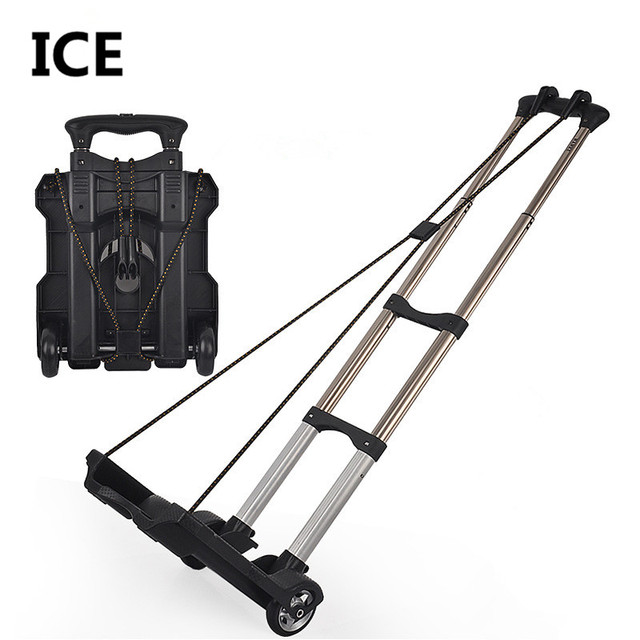 New arrived Daily use at home small portable shopping luggage cart trolley car retractable folding bike trailer handcart