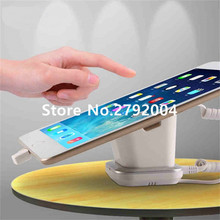 10pcs/lot Tablet security alarm Ipad display stand andriod anti theft holder charging apple mount devices for retail phone shop