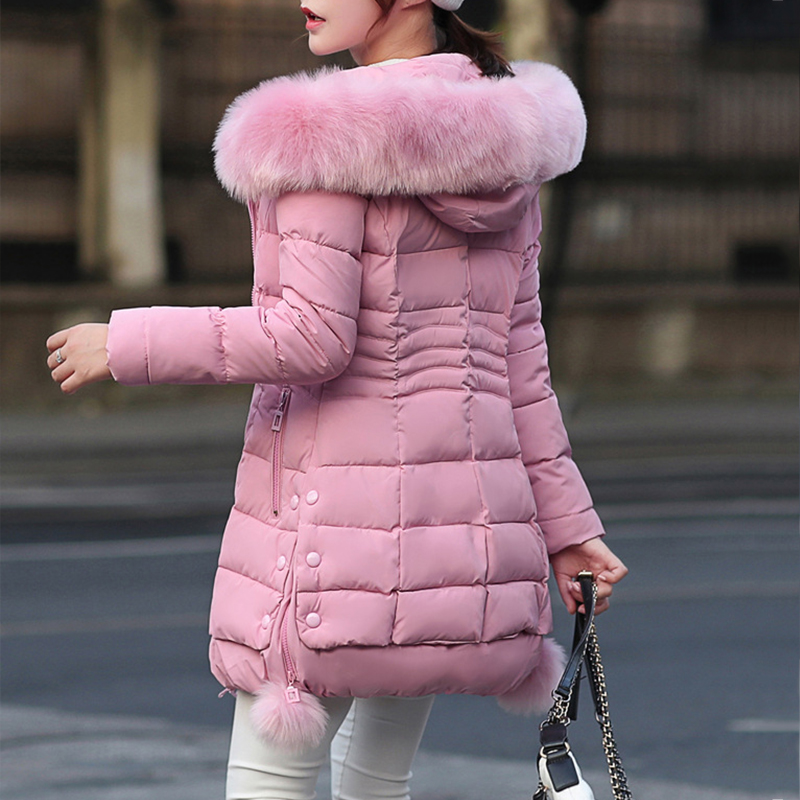 Faux Fur   Parkas   Women 2018 New Winter Down Cotton Jacket Women Thick Snow Wear Winter Coat Lady Clothing Female Jackets   Parkas
