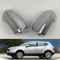 2PCS ABS Chrome Rearview Side Door Mirrors Cover Trim Car styling for Nissan Qashqai J10 2007 2008 2009 2010 2011 2012 2013