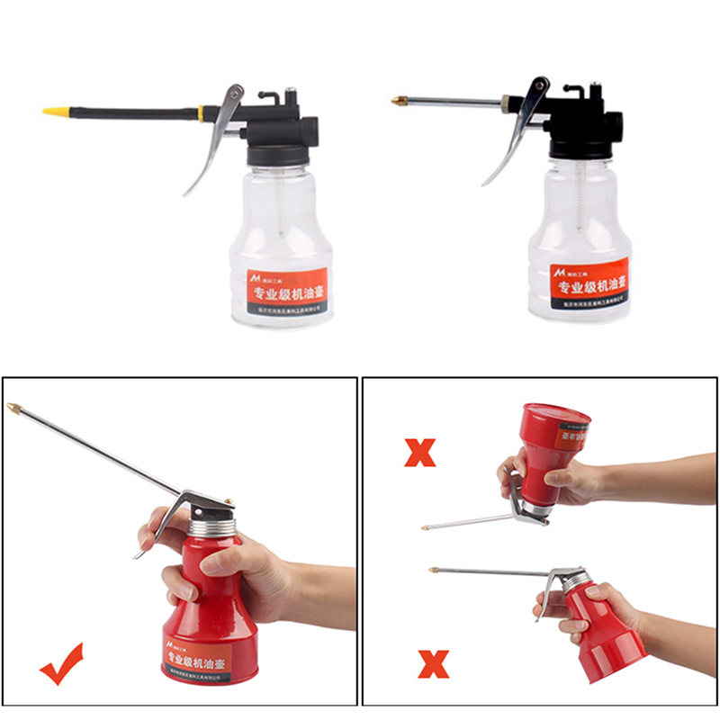 Useful Oil Can Oiler Lubrication Oil Metal Plastic Machine Oil Pot Extended Hose