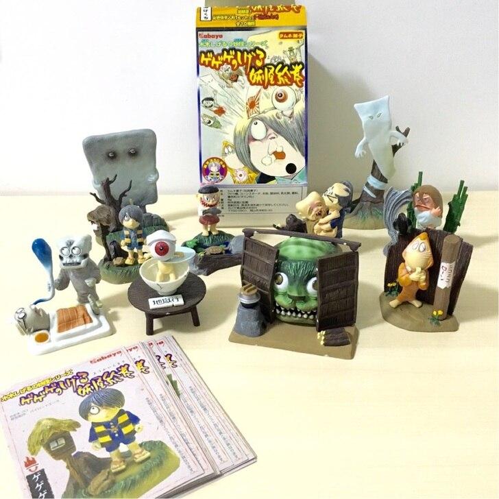 10pcs/set Simulation  model toy  scene Decoration  Mizuki Taro Monster  pvc  figure rare   out of  print 12pcs set simulation model toy scene decorationsteamboy ornaments pvc figure
