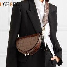 Saddle Bag Animal Print Alligator Leather Bag