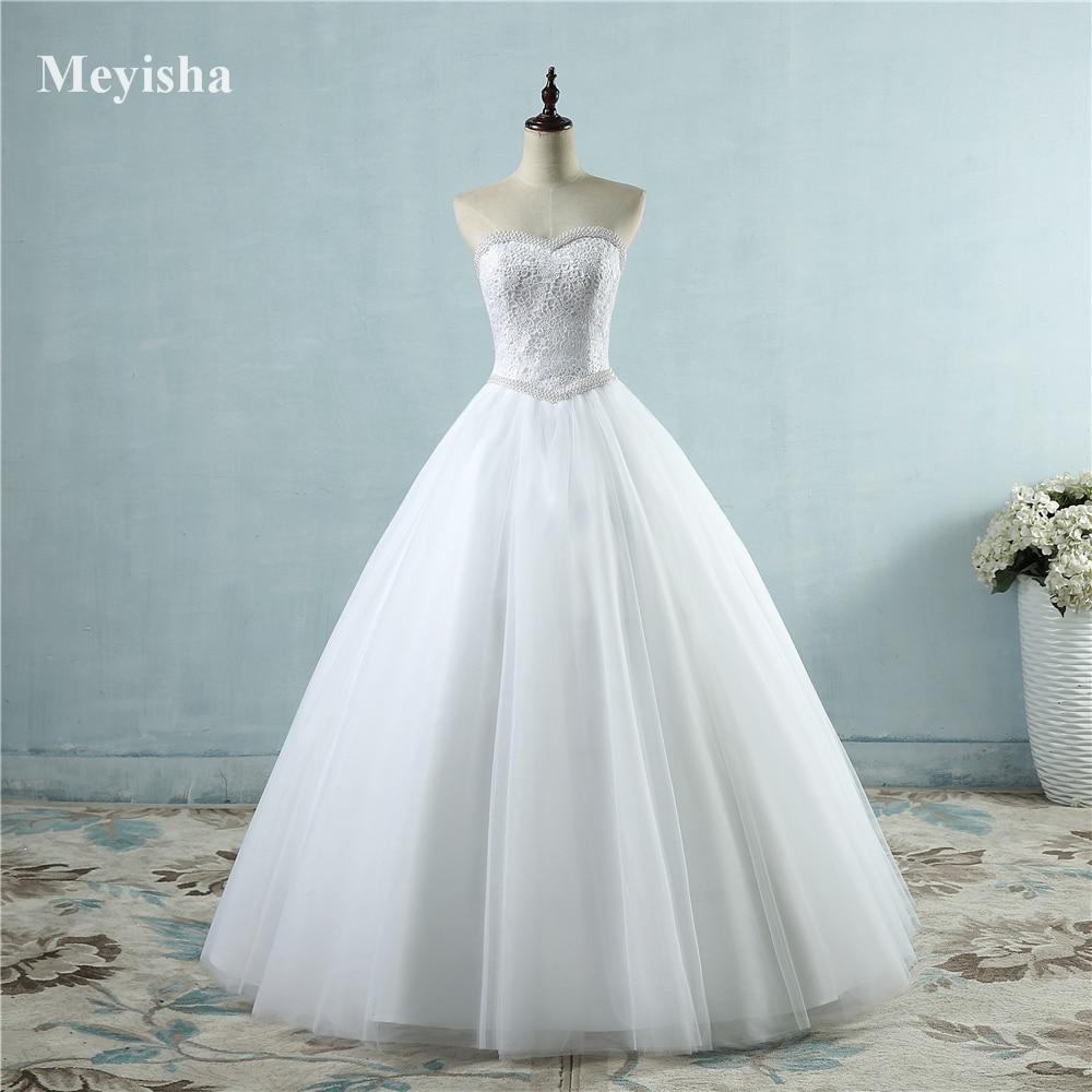 ZJ9069 2017 White Ivory Lace Strapless Wedding dresses Corset Bridal ...