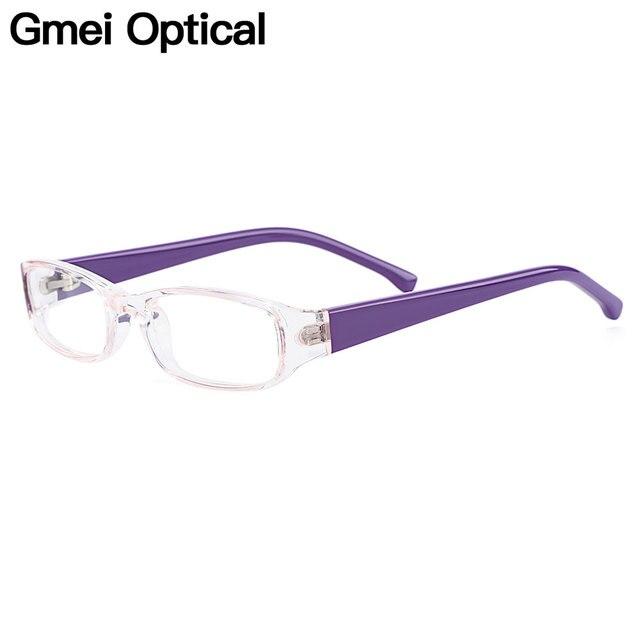 03e0583ee Gmei óptico transparente Rectangular borde completo de plástico chico gafas  marcos para la miopía presbicia anteojos recetados H8001 ...