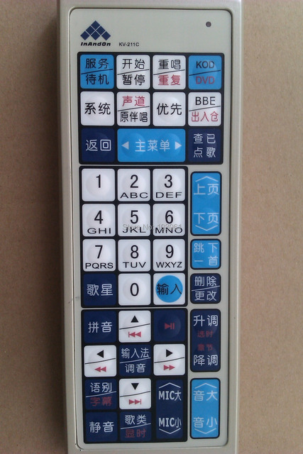 Free shipping remote for inandon karaoke player,wholesale