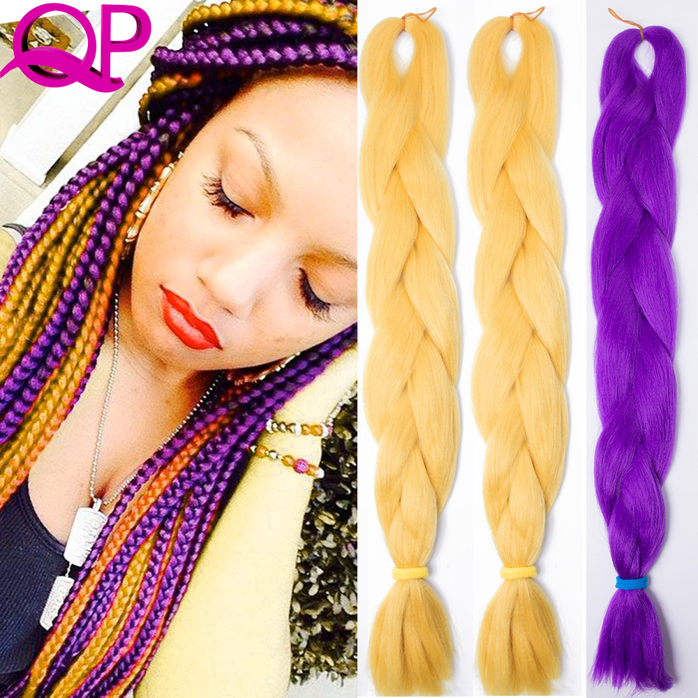 Buy 10pcs xpression braid hair orange synthetic crochet braids hair synthetic - Crochet braids avec xpression ...