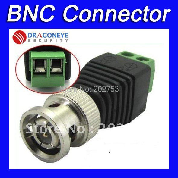 100pcs Coax CAT5 to CCTV Camera BNC Male Connector, BNC Connector Plug for CCTV Cable