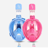 Free shipping! Curved face Kids snorkeling mask diving mask nose breathing diving equipment anti fog child snorkeling mask XS