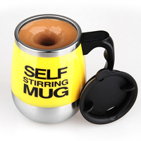 1PCS 350ml Stainless Steel Automatic Mixing Cup Coffee Cup Gift Cup Creative Cup Coffee Mug Milk