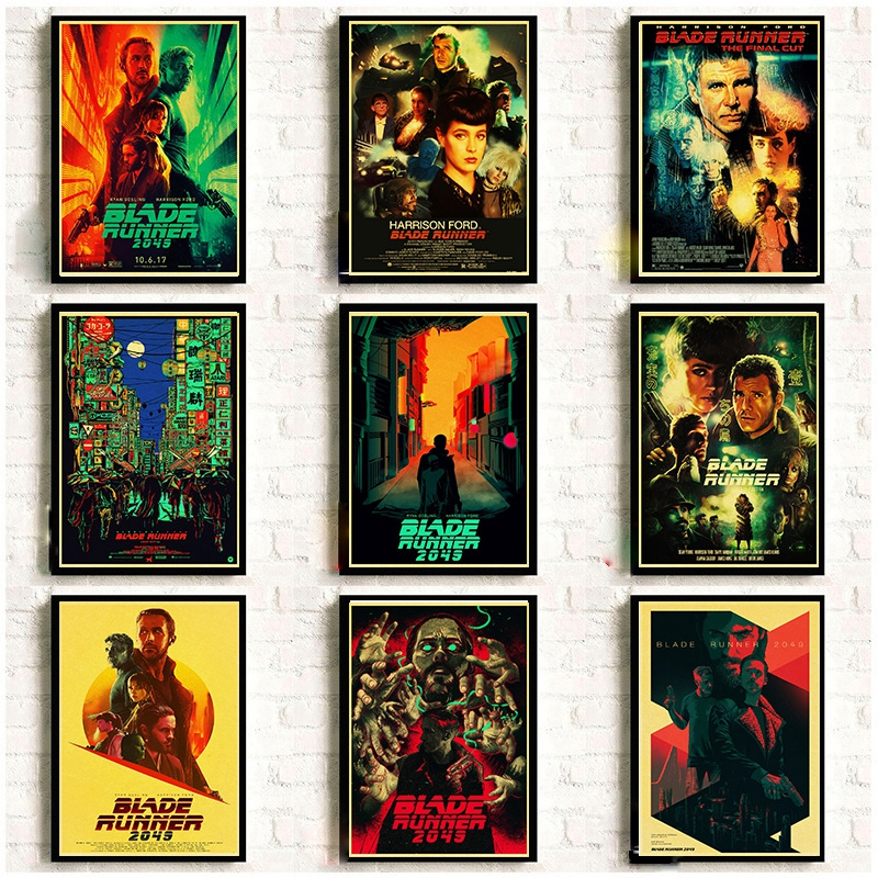 American Movie Blade Runner 2049 Retro Posters Good Quality Kraft Paper Printed Wall Posters Art Painting Home Room Decor