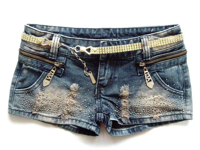 2016 envío gratis zipper bolsillos paillette ornamento jeans shorts para el verano tamaño libre denim shorts mujer caliente venta