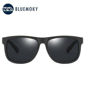 Image 5 - BLUEMOKY Square Black Sun Glasses for Men UV400 Polarized Brand Designer Sunglasses Men Driving Polaroid Shades for Men 2019
