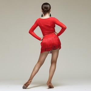 Image 4 - New Latin Dance Skirt Women Tassels Apron Costume Training Hip Scarf Cha Cha Samba Dancing Waist Towel Latin Accessories DN1191