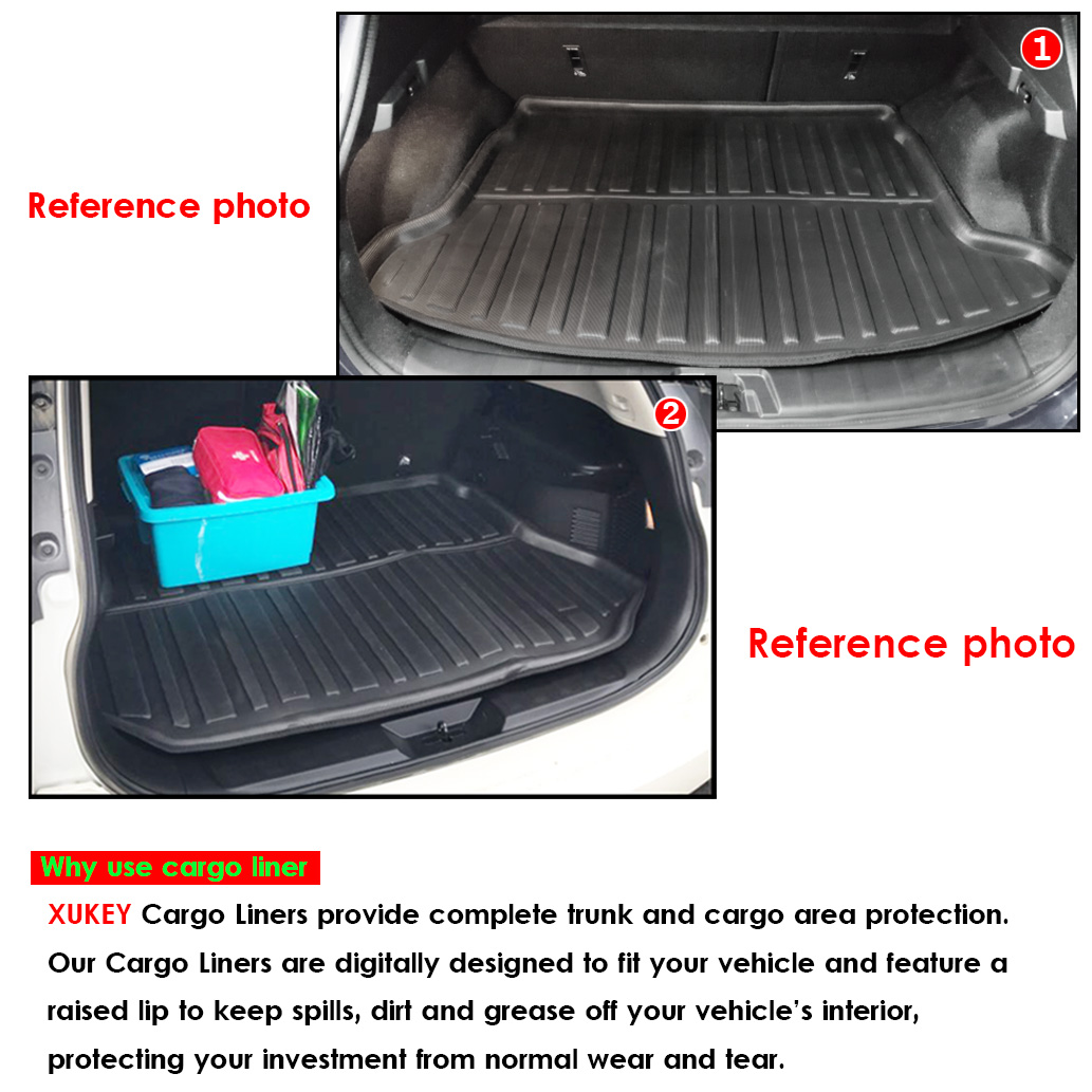 Nomad Auto Tailored Fit Durable Black Boot Liner Tray Mat Protector for Mitsubishi Outlander 2013 on