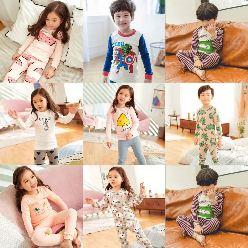 Baby Outfits Children Suit Clothing   Set     Pajamas     Sets   Kids Boys Girls Clothes   Set   Boy Pyjama Cotton Long Sleeve Sleepwear CA3461