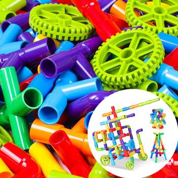 306 pcs kolorowe wody rury budynku klocki dla dzieci DIY montażu rurociągu tunelu Model Toy kompatybilne z Legoed Duploded tanie i dobre opinie 5-7 lat Dorośli 8 ~ 13 Lat 14Y Urodzenia ~ 24 Miesięcy 2-4 lat Supfy Transport Fantasy i sci-fi Zwierzęta i Natura
