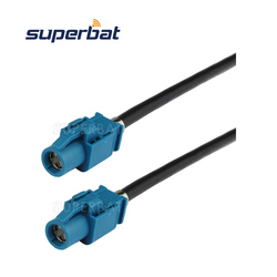 Superbat Fakra Vehicle HSD LVDS Cable Dacar 535 Assembly Z Code Straight Jack Female to Z Code Straight Jack 120cm