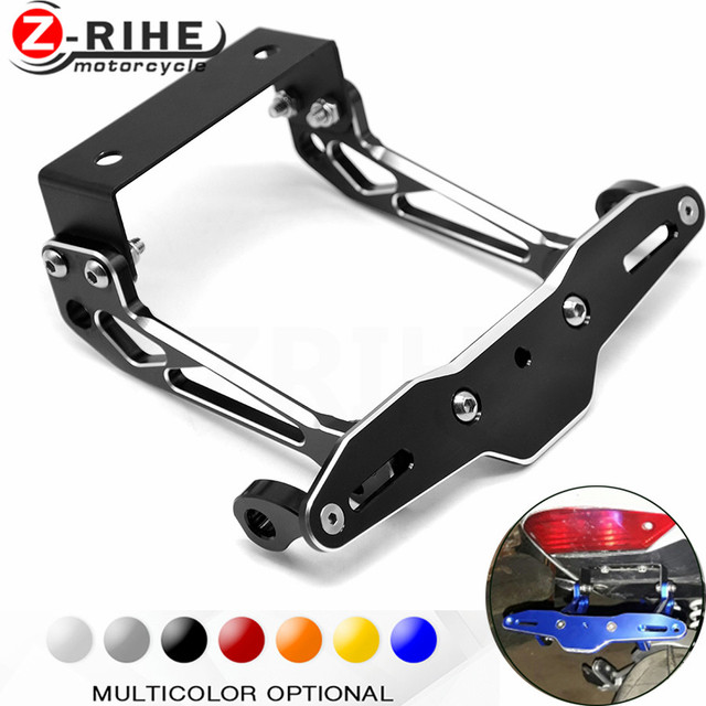 Motorbike Adjustable Angle Aluminum License Number Plate Holder Bracket For Suzuki DL1000 V-STROM GSX1400  sc 1 st  AliExpress.com & Motorbike Adjustable Angle Aluminum License Number Plate Holder ...