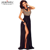 Spitze Nähen Backless Top Elegante Lange Partei-kleider Bodenlangen Kleider Höhe Aufgeschlitzte Frauen Kleid Für Abend Vestidos De Fiesta