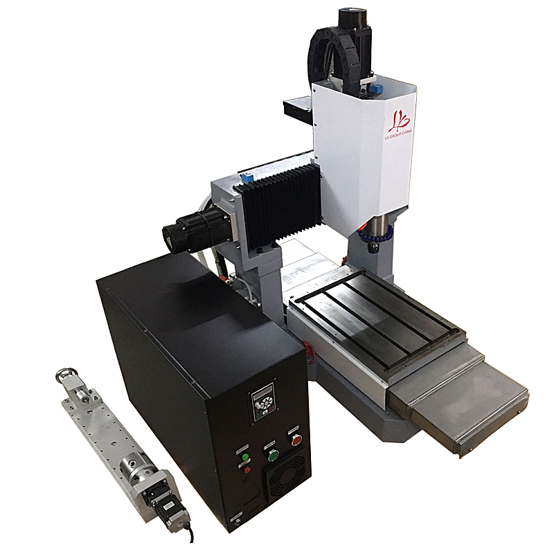 LY 3040 full cast iron 2.2KW CNC engraving machine engrave router 4 axis step motor version Z axis height 170mm 220V diy mini cnc router ly 3040 full cast iron engraving machine for metal 3 4 axis cutting drilling 1 5 2 2 3 5kw