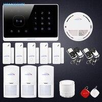 HOMSECUR lcd Беспроводная gsm система с автонабором домашняя офисная охранная сигнализация + Приложение