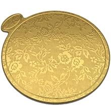 200 шт./компл. с золотым принтом круглый торт Панели Бумага кекс десерт показывает поднос свадебный торт декоративная выпечка комплект
