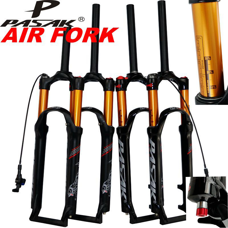 MTB <font><b>Bicycle</b></font> Air <font><b>Fork</b></font> 26 <font><b>27.5</b></font> 29er Mountain Bike Suspension Air Resilience Oil Damping Gas Oil <font><b>Fork</b></font> Line Remote Cycling Booster image