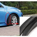 2pcs Carbon Fiber Style Fender Flare Wheel Lip Body Kit Universal For Car Truck Car Mudguard Mud Guard Auto Accessories
