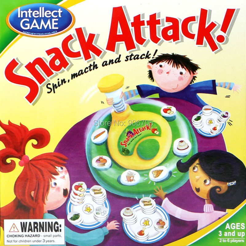 Fun game Snack Attack spin macth and stack Board Matching Stacking Game Antistress font b Gadget