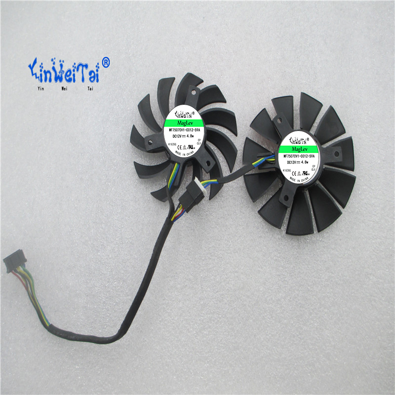Free Shipping FD7010H12D DC12V 0.35A For ASUS GTX660 GTX670 GTX680 GTX690 Graphics Card Cooling Fan