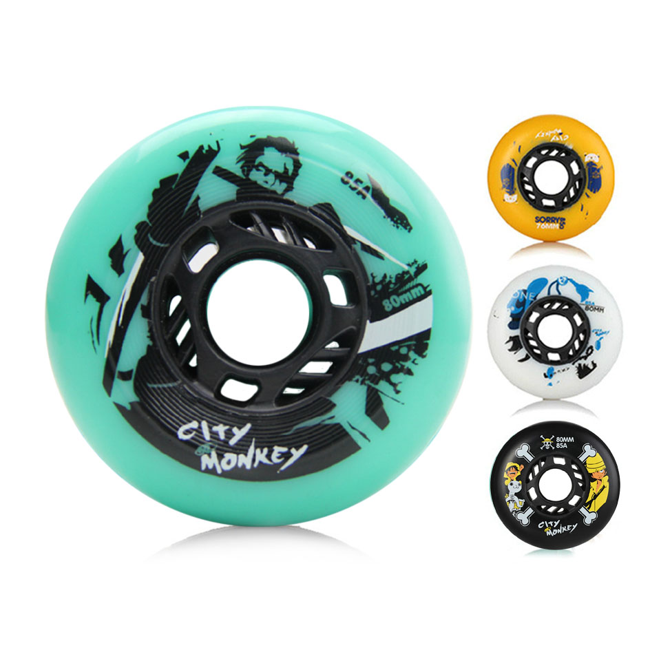 CTMK Inline Roller Skates Wheels 85A 80 76 mm Black for Professional Patines Roller for Kids