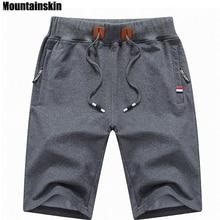 Mountainskin 2017 одноцветное Для Мужчин's Шорты для женщин 4XL Лето Для мужчин S Пляжные шорты хлопок Повседневное мужской Шорты для женщин Homme брендовая одежда SA210