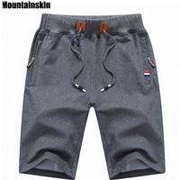 Mountainskin 2018 одноцветное Для мужчин шорты 6XL Лето Для мужчин s Пляжные шорты хлопок Повседневное мужской шорты homme брендовая одежда SA210