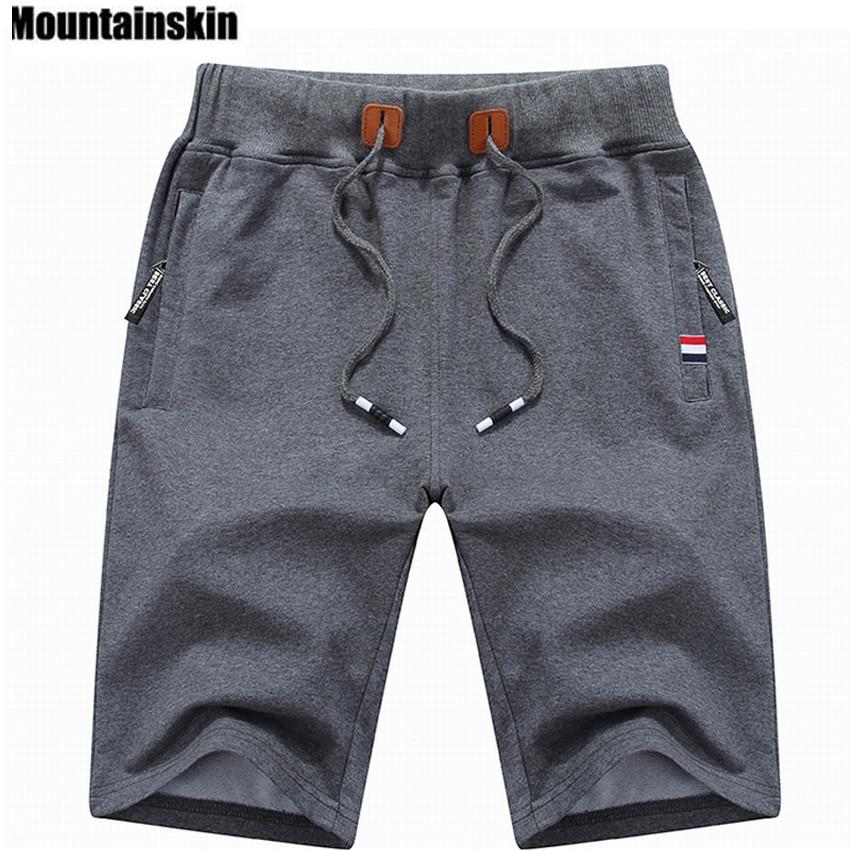 Mountainskin 2018 Calções dos homens Sólidos 6XL Verão Da Praia Dos Homens Shorts de Algodão Casuais Calções Masculinos homme Roupas de Marca SA210
