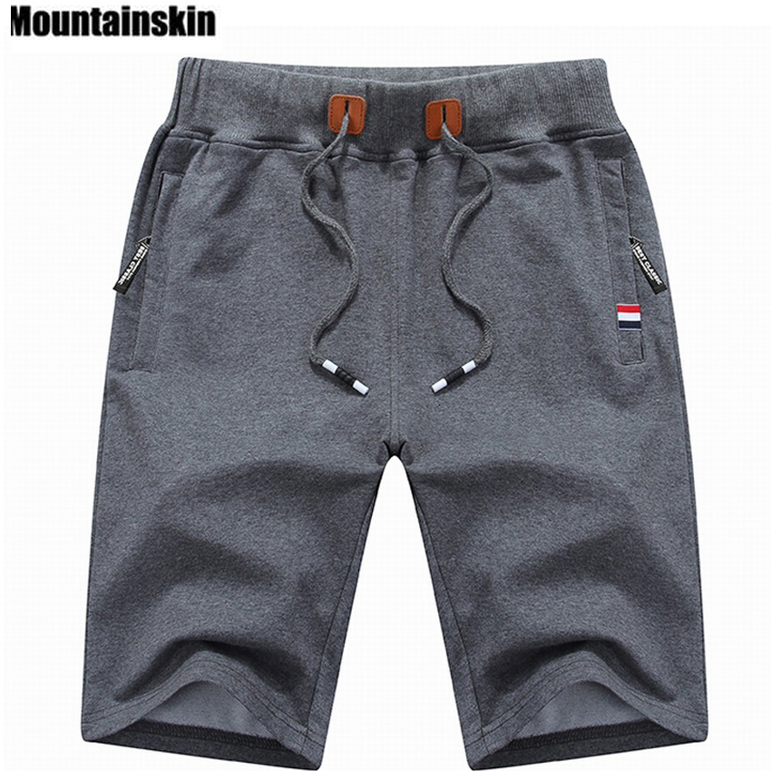 Mountainskin 2018 Solid Men's Shorts 6XL Summer Mens Beach Shorts Cotton Casual Male Shorts homme Brand Clothing SA210 2018 men multi pocket military cargo shorts casual cotton loose knee length army tactical shorts homme summer male sweatpants