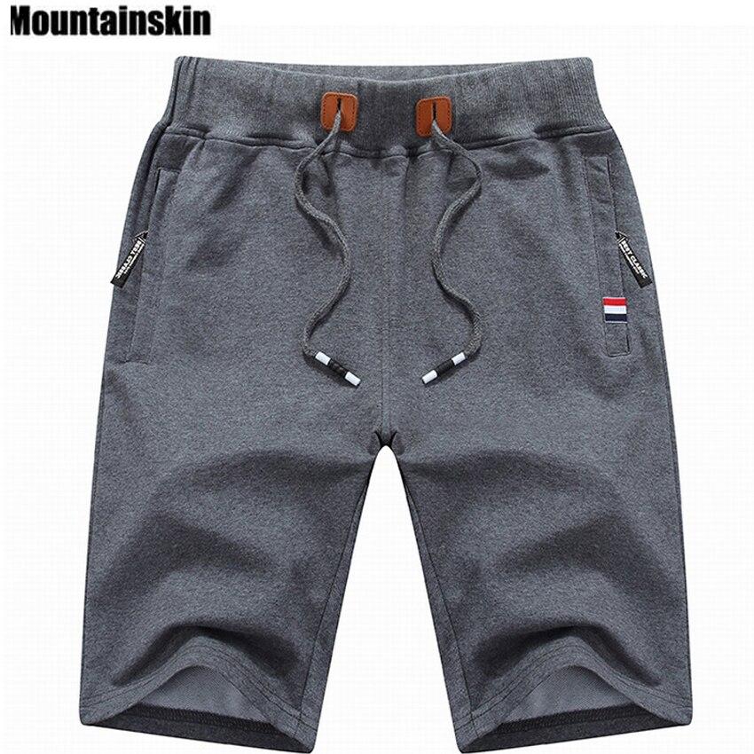 Mountainskin 2018 sólido Shorts 6XL verano hombres playa Shorts algodón Casual Hombre Shorts hombre marca ropa SA210