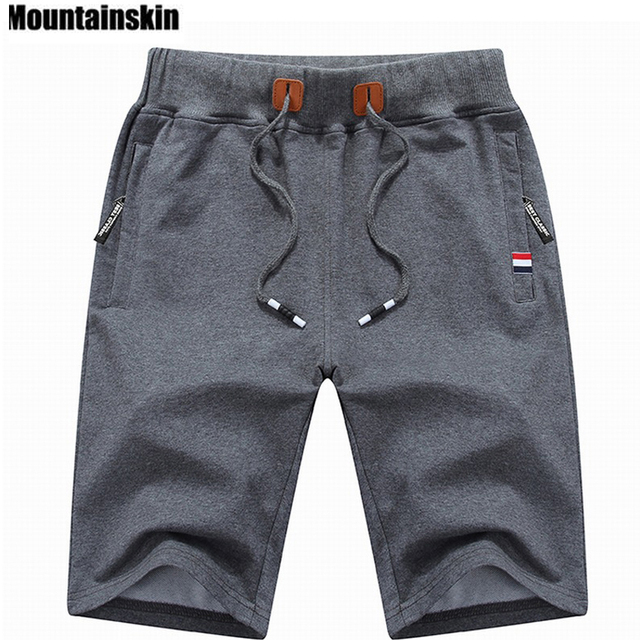 Mountainskin 2019 Solid Men's Shorts 6XL Summer Mens Beach Shorts Cotton Casual Male Shorts homme Brand Clothing SA210