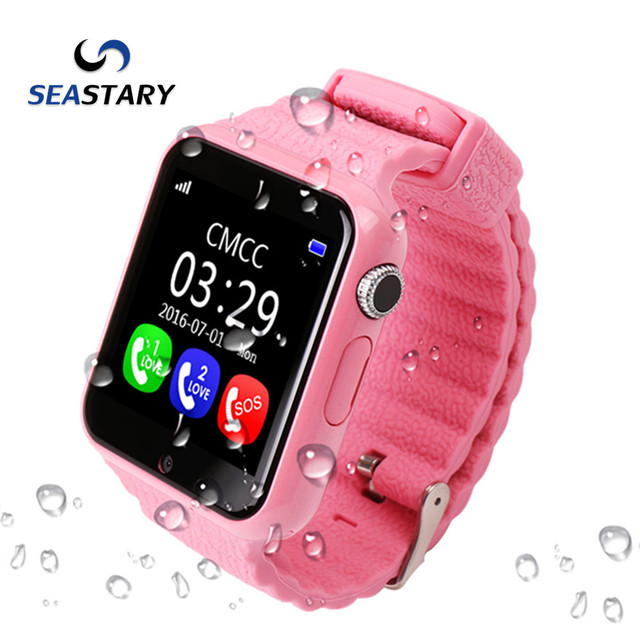 V7K smart watch1.54'' With camera Children Security Anti Lost GPS Tracker SOS Emergency facebook LocationDevice Kids Q90/Q80/Q60