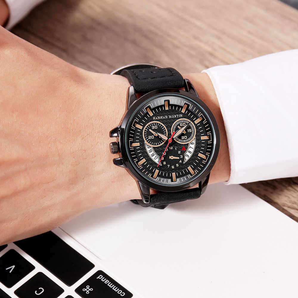 Men women Creative Calendar Business Fashion luxury brand casual gold silver black watches Breathable Belt Quartz Watch A40