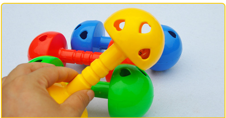 1 Pair Kids Baby Plastic Dumbbell Fitness Toy Dancing Prop