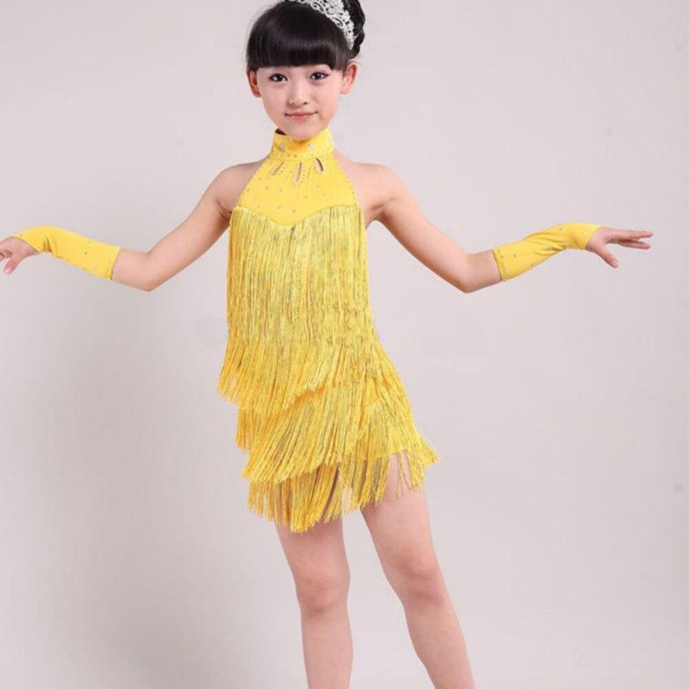 510b325574fdd Hot Kid Girl Tassel Dress Ballroom Latin Salsa Dance wear Party Dance  Costume New-in Latin from Novelty & Special Use on Aliexpress.com | Alibaba  Group
