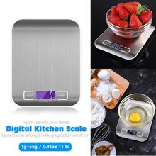 TPFOCUS 5KG Stainless Steel Kitchen Scale Electronic Food Weighing Scale Digital Measuring Gram Accurate