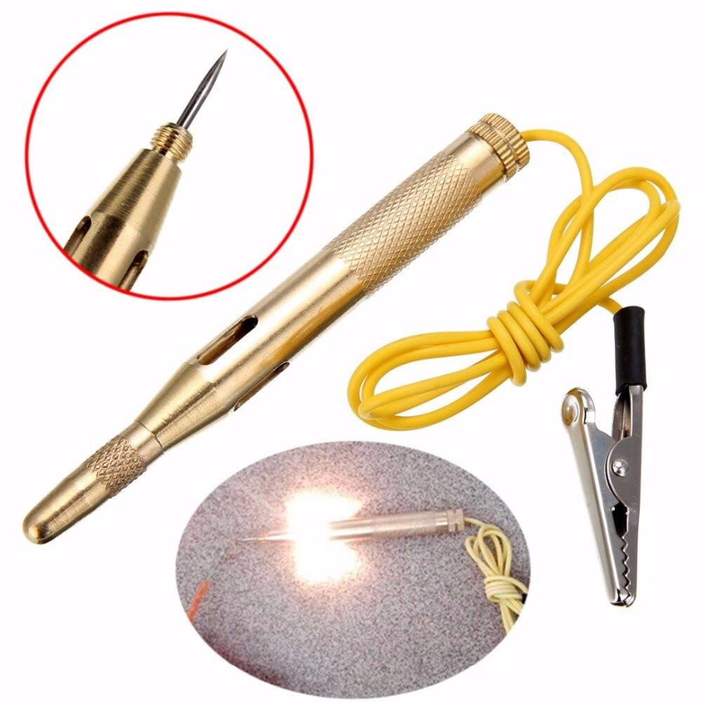 1 Lâmpada Luz Do Carro pc Automotive Tensão Tester Pen Elétrica Teste do Lápis 6 v/12 v