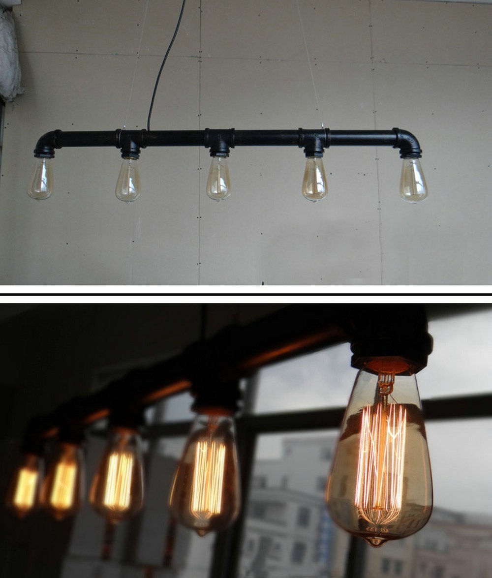 steampunk lighting. Free Shipping Vintage Pendant Lights Metal Water Pipe Lamp Steampunk Lamps E27 Bulbs Warehouse Bar Lighting Counter-in From