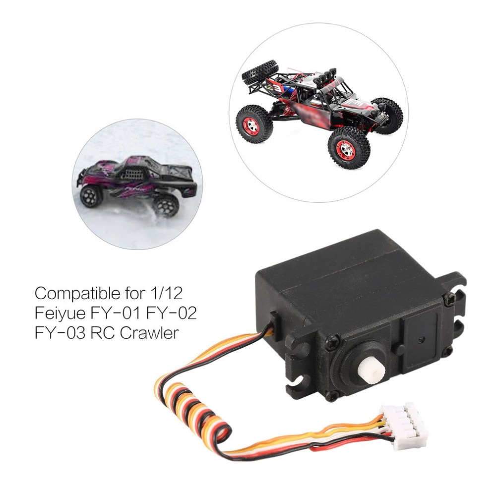 20g Servo 5pin Plastic/Metal Gear 4.8-6V for 1/12 Feiyue FY-01 FY-02 FY-03 RC Car Crawler Truck Steering Part Accessories20g Servo 5pin Plastic/Metal Gear 4.8-6V for 1/12 Feiyue FY-01 FY-02 FY-03 RC Car Crawler Truck Steering Part Accessories
