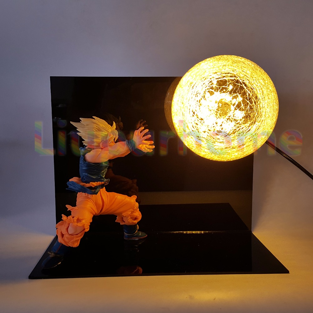 Dragon Ball Z Son Goku Spirit Bomb Blue Led Base Diy Set Night Lights Anime Dragon Ball Super Dbz Led Table Lamp Christmas Decor Led Night Lights Lights & Lighting