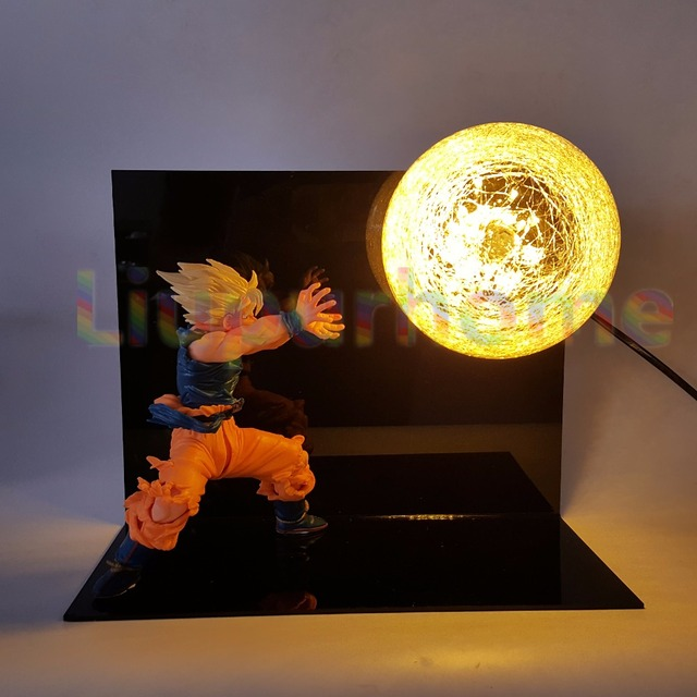 Attractive Dragon Ball Z Son Goku DIY LED Nightlight Table Lamp Luminaria Kamehameha  Anime Dragon Ball Z