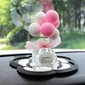 Colofull balões ornamento do carro criativo bonito aromaterapia garrafa autocar interior dashboard decoração acessórios 1pc