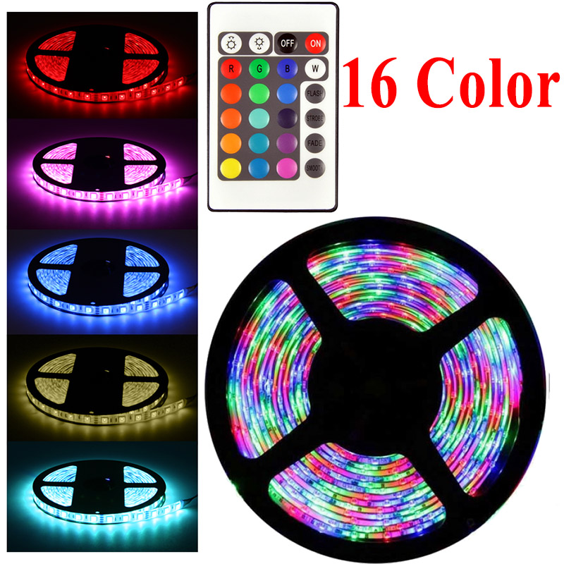 20 Color RGB LED Strip 220V Light 5050 2835 10M 5M 20M LED Light Rgb Leds Tape Diode Ribbon Flexible Controller Adapter 12v Set